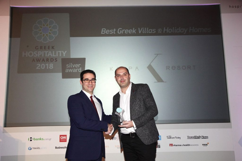 Mr Konstantinos Tzikopoulos, general manager of Kappa Resort during the awards ceremony